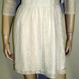 Kensie Dresses - Kensie Dresses NWT Ivory Lace Overlay Dress